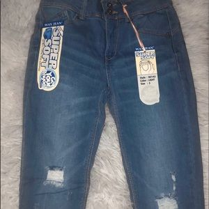 """FASHION NOVA """"Can't Stop Me"""" Jeans In Light"""